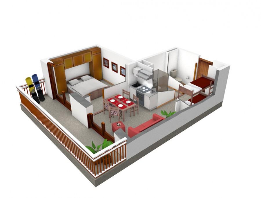 Thollon immobilier sp cialis dans l 39 immobilier de for Plan appartement 1 chambre