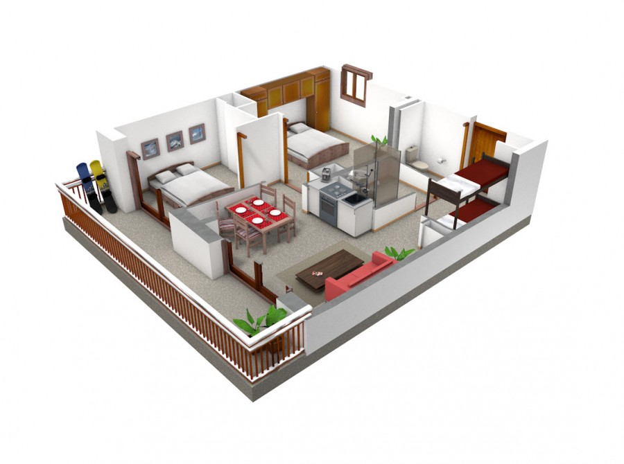 Plan appartement 3 chambres for Plan appartement