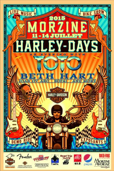 actus morzine harley days concert toto
