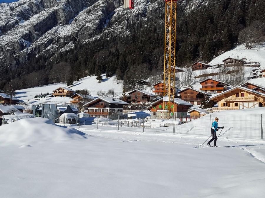 actus Pierre Blanche - Chapelle d Abondance - Ski Fond - Devant le chantier