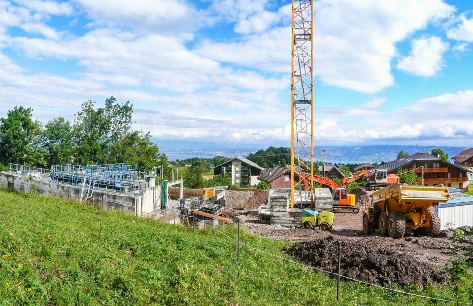 actus Spatules - Thollon - elevation murs rez chaussee chantier juillet 16