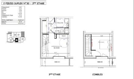2 Pièces Rhodos Duplex Thollon