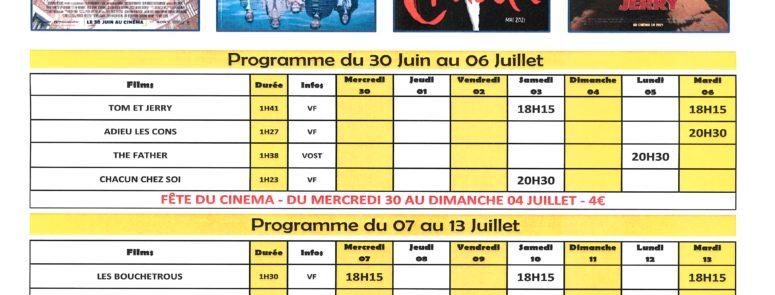 Programme Ciné Thollon
